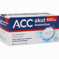 Abbildung von Acc Akut 600mg Brausetabletten 20 Stück
