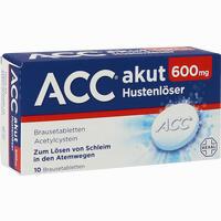 Abbildung von Acc Akut 600mg Brausetabletten 10 Stück