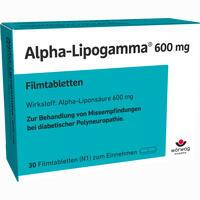 Abbildung von Alpha- Lipogamma 600mg Filmtabletten  Woerwag 30 Stück
