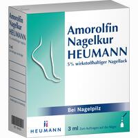 Abbildung von Amorolfin Nagelkur Heumann 5% Wirkstoffhaltiger Nagellack Lösung 3 ml