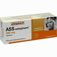 Abbildung von Ass- Ratiopharm 300mg Tabletten 50 Stück