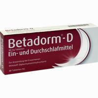 Abbildung von Betadorm D Tabletten 10 Stück