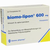 Abbildung von Biomo Lipon 600 Filmtabletten 30 Stück