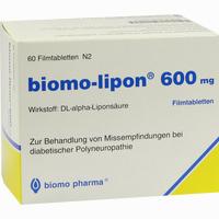 Abbildung von Biomo Lipon 600 Filmtabletten 60 Stück