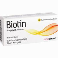 Abbildung von Biotin 5mg Nat. Tabletten 60 Stück