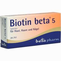 Abbildung von Biotin Beta 5 Tabletten 20 Stück