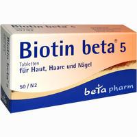 Abbildung von Biotin Beta 5 Tabletten 50 Stück