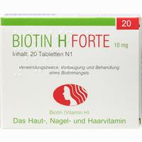 Abbildung von Biotin H Forte Tabletten 20 Stück