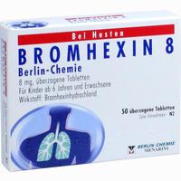 Abbildung von Bromhexin 8 Berlin- Chemie überzogene Tabletten  50 Stück