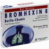 Abbildung von Bromhexin 8 Berlin- Chemie überzogene Tabletten  20 Stück