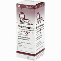 Abbildung von Bromhexin Krewel Meuselbach Tropfen 8mg/ml  30 ml