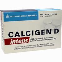 Abbildung von Calcigen D Intens 1000 Mg/880 I.e.kautabletten  48 Stück
