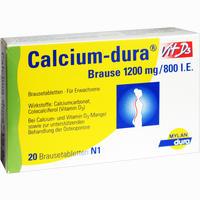 Abbildung von Calcium- Dura Vit D3 1200mg/800 I.e. Brausetabletten  20 Stück