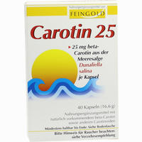 Abbildung von Carotin 25 Feingold 40 Stück