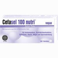 Abbildung von Cefasel 100 Nutri Selen- Tabs Tabletten 100 Stück