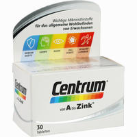 Abbildung von Centrum A Bis Zink Tabletten 30 Stück