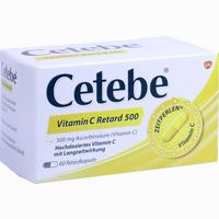 Abbildung von Cetebe Vitamin C Retard 500 Retardkapseln 60 Stück