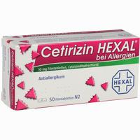 Abbildung von Cetirizin Hexal bei Allergien Filmtabletten 50 Stück