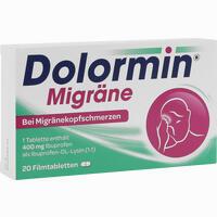 Abbildung von Dolormin Migräne Filmtabletten 20 Stück