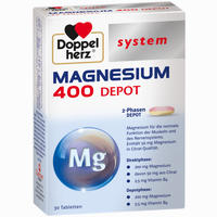 Abbildung von Doppelherz Magnesium 400 Depot System Tabletten 30 Stück