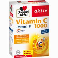 Abbildung von Doppelherz Vitamin C 1000 + Vitamin D Depot Tabletten 100 Stück