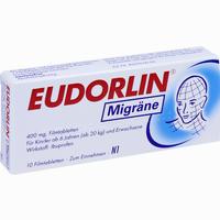 Abbildung von Eudorlin Migräne Filmtabletten 10 Stück
