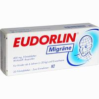 Abbildung von Eudorlin Migräne Filmtabletten 20 Stück