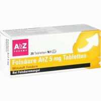 Abbildung von Folsäure Abz 5mg Tabletten  20 Stück