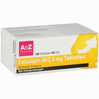 Abbildung von Folsäure Abz 5mg Tabletten  100 Stück