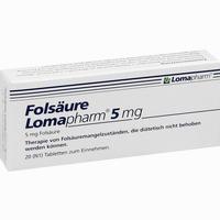 Abbildung von Folsäure Lomapharm 5mg Tabletten 20 Stück
