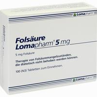 Abbildung von Folsäure Lomapharm 5mg Tabletten 100 Stück