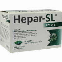 Abbildung von Hepar- Sl 320mg Hartkapseln  200 Stück