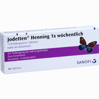 Abbildung von Jodetten Henning 1x Wöchentlich Tabletten 14 Stück