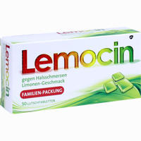 Abbildung von Lemocin gegen Halsschmerzen Lutschtabletten 50 Stück