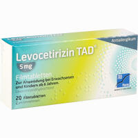 Abbildung von Levocetirizin Tad 5mg Filmtabletten  20 Stück