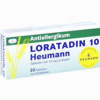 Abbildung von Loratadin 10 Heumann Tabletten 20 Stück