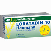 Abbildung von Loratadin 10 Heumann Tabletten 50 Stück