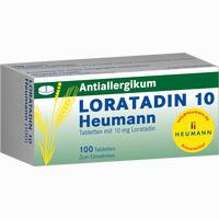 Abbildung von Loratadin 10 Heumann Tabletten 100 Stück
