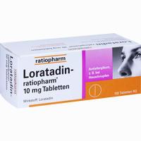 Abbildung von Loratadin- Ratiopharm 10mg Tabletten  100 Stück