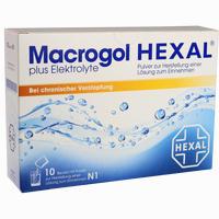 Abbildung von Macrogol Hexal Plus Elektrolyte Pulver 10 Stück