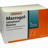 Abbildung von Macrogol- Ratiopharm Balance - Pulver zur Herstellung einer Lösung Zum Einnehmen  30 Stück