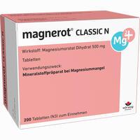 Abbildung von Magnerot Classic N Tabletten 200 Stück