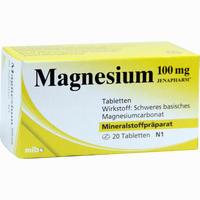 Abbildung von Magnesium 100mg Jenapharm Tabletten  20 Stück
