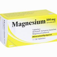 Abbildung von Magnesium 100mg Jenapharm Tabletten 50 Stück