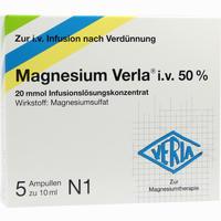 Abbildung von Magnesium Verla I.v.50% Infusionslösungskonzentrat  5 Stück
