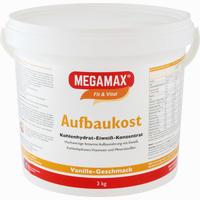 Abbildung von Megamax Aufbaukost Vanille Pulver 3 KG
