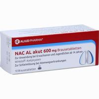 Abbildung von Nac Al Akut 600mg Brausetabletten  10 Stück