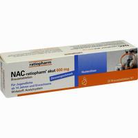 Abbildung von Nac- Ratiopharm Akut 600 Hustenlöser Brausetabletten 20 Stück
