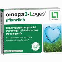 Abbildung von Omega3- Loges Pflanzlich Kapseln 60 Stück