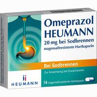 Abbildung von Omeprazol Heumann 20mg bei Sodbrennen Magensaftresistente Hartkapseln  14 Stück